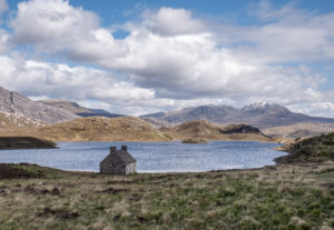 Loch, bothy & mountain, Steve Grace